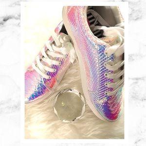 Betsey Johnson Bettie Iridescent Sneakers